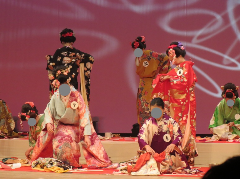 The women's furisode competition.