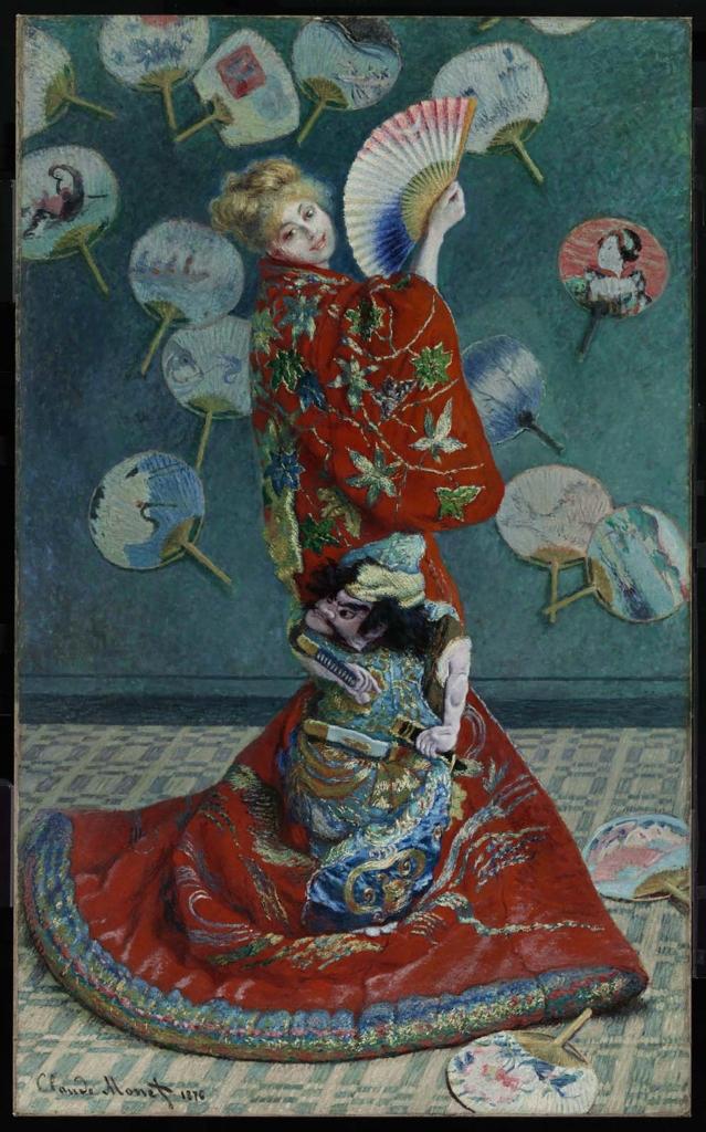 La Japonaise by Claude Monet.  Image from the Boston Museum of Fine Arts.
