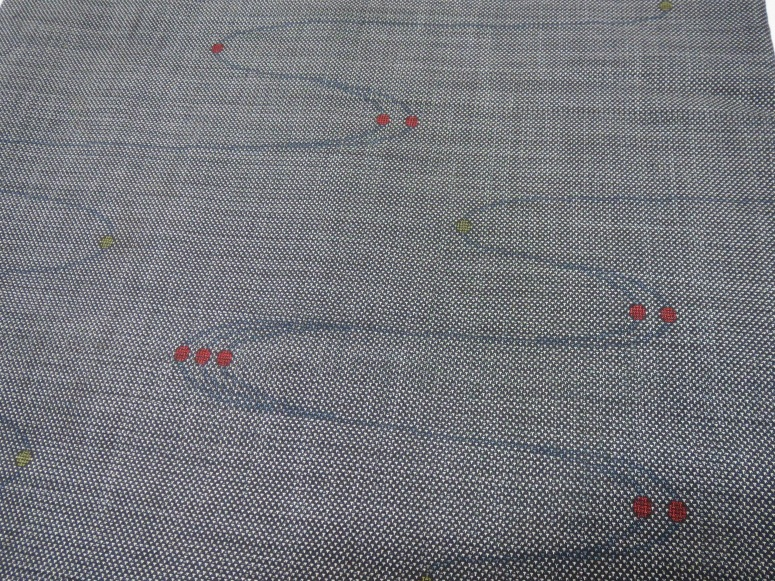 A close-up view of my favorite of the two tsumugi kimono.